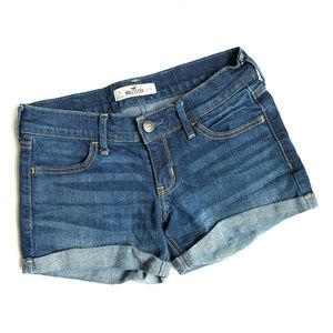 HOLLISTER Denim Jean Shorts Medium Wash 4 Pockets